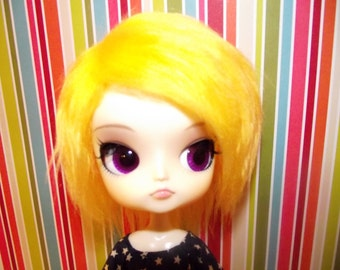 Bright yellow faux fur wig hair for DAL