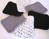 Crochet Sponge, Set of 6 Cotton Sponges