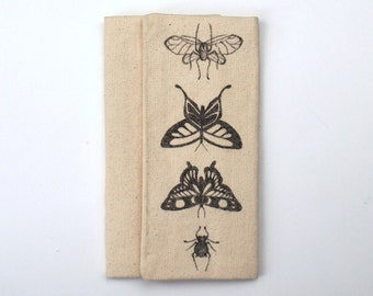 tri-fold wallet with hand drawn butterflies item number 307