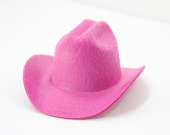 5 Mini Felt Cowgirl Hats 4 Colors to choose from- Party Favors, Photographer Props, Rodeo wear fascinators, Costumes, Birthdays, Dogs, Dolls