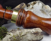 Duck Call Double Reed  in Philippine Mahogany  And Brass Band  #227