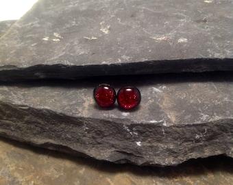 Dichroic glass jewelry, handmade dichroic glass stud earrings, fused glass, handmade fused glass, Dichroic glass earrings, glass earrings