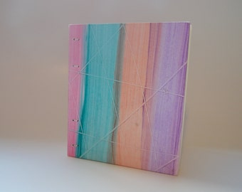 Multicolored Striped Ethiopian Style Binding Blank Book