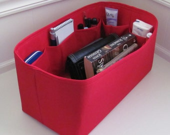 Fits Speedy 35 ....Purse Insert ORGANIZER Purse Shaper . . Red.. .. Strong and Durable ...13x6x6
