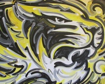 30x40 Officially Licensed University of Missouri Tigers Mizzou Painting by Justin Patten Sports Art College Baseball Football Basketball