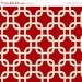 Closing Shop Christmas Home Decor Fabric Yardage-Gotcha Premier Prints- Geometric Lattice - Red and White - 1 Yard