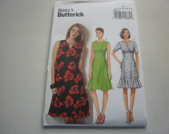 Pattern Women Plus Size Dress 3 Styles Sizes 16 to 24 Butterick 6015 A
