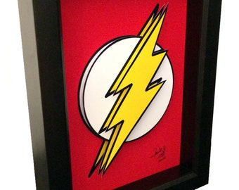 The Flash Poster Artwork Symbol 3D Pop Art comic Artwork