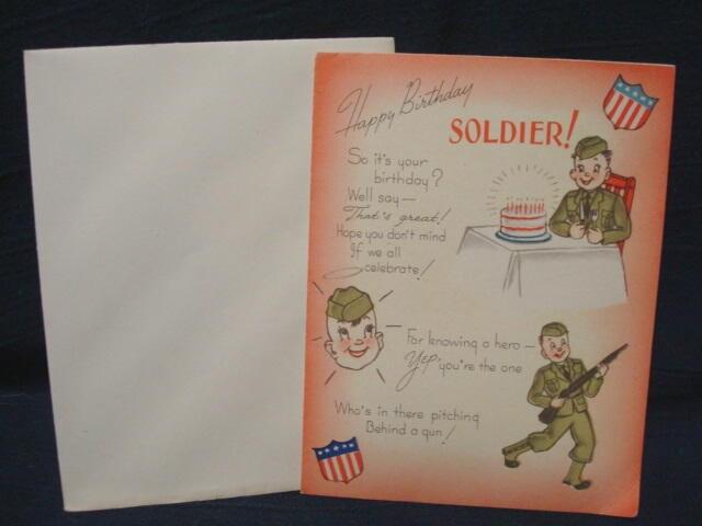 Happy Birthday Soldier World War II Greeting Card With