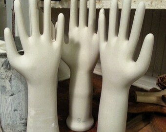 Vintage Porcelain Glove Mold Hand