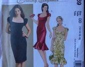 McCalls 5269 Flirty Dress Pattern Size 12 to 18 Hem Ruffle Princess Seams Bust 34 to 40 UNCUT