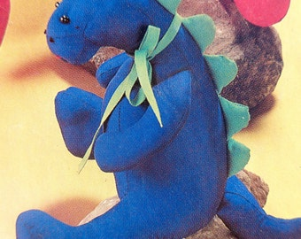 Dinosaur Dolls w Clothes Sewing Pattern McCalls 6275 McCalls 788 UNCUT