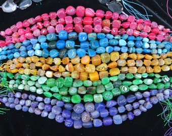 pick your color- Agate nugget beads 15x20-8x12mm- 22pcs/strand