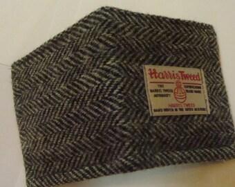 Mans Harris tweed wallet bill fold made in Scotland gift  wool vegetarian plaid Scottish British UK groomsmen gift man gift