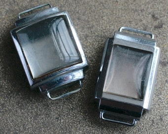 Small Vintage Wrist Watch Cases -- set of 2
