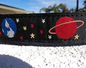 "Dog Collar Universe 1"" wide Side Release buckle adjustable  -  martingale style is cost upgrade"