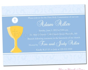 PRINTABLE First Communion Party Invitation #602