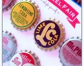 Vintage Push Pins Magnets Bottle Cap - Qty 8 - Authentically Vintage Office Accessories - Coworker Gifts Under 20