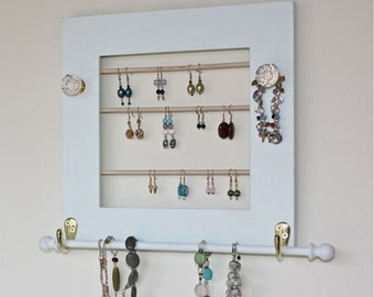 Jewelry Frame Holder for Earrings, Necklaces, Bracelets.