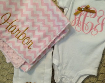 Custom Personalized Baby Gift Set