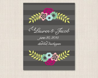 BOTANICAL BLOSSOMS Save the Date - DEPOSIT