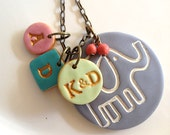 Funky  Fun Elephant Family Necklace