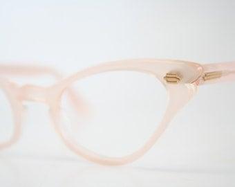 Pink cat eye eyeglasses  vintage cat eye glasses frames Cateye frames