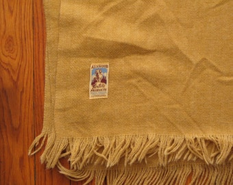 vintage Kenwood wool products throw blanket