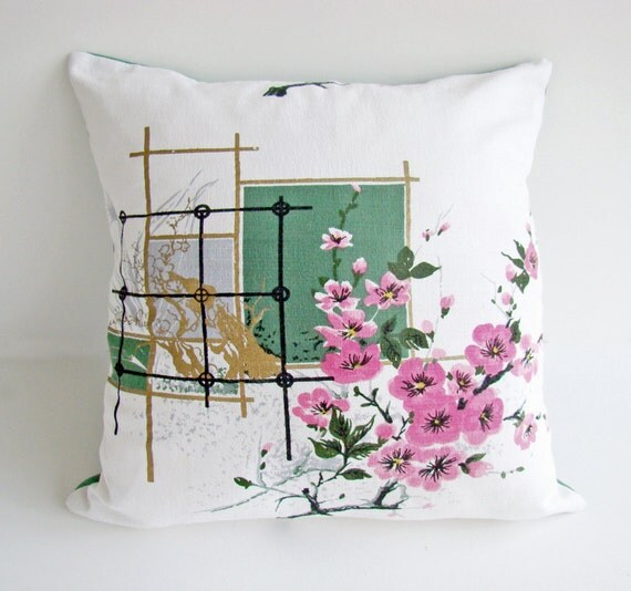 Japanese Cherry Blossom Cushion, Pillow Cover