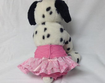 Female Dog Diaper Skirt Britches Doggie Panties Pet Wrap Size XSmall To XLarge Pink Waterfall