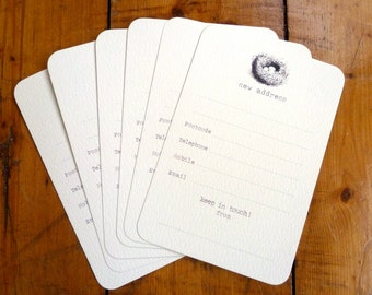 Pack of Six Nest New Address Announcement Cards