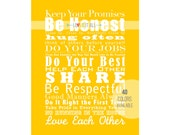 House and Family Rules Manifesto Subway Art Poster Print Scroll Roll Sign . Family Motto Nursery Wall Decor // Words to Live By
