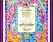 Custom Jewish House Blessing - Home Blessing - Jewish Judaica Wall Art - Hebrew English - Hanukkah Chanukah gift - Jewish home gift