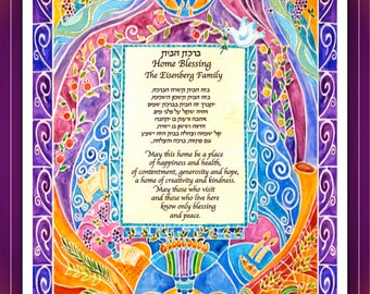 Love Tree Blessing For The Home Hebrew English Blessing
