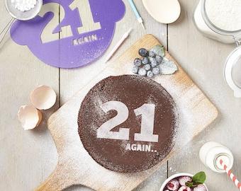 Birthday Age Cake Stencil