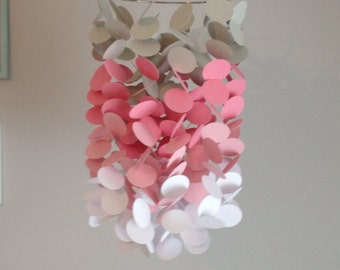Pink ombré paper mobile - or your choice of colors