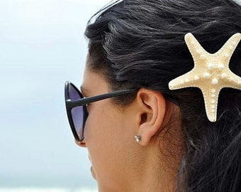 KNOBBY STARFISH BARRETTE - beach girl, nautical starfish, anniversary gift, bridal shower, gift Hawaii Maui vacation, waves sand ocean sea