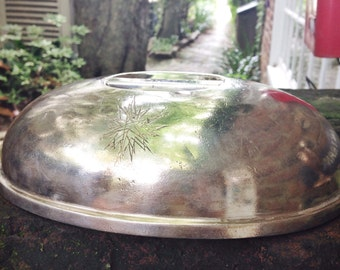 Vintage 1955 Silver Plate Dome from The Beverly Hilton in Beverly Hills CA