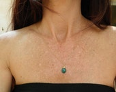 May Birthstone Emerald Necklace Genuine Emerald necklace Rough Cut Emerald Necklace May Birthday Gift For Her Necklace