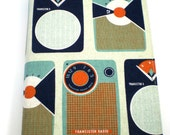 Large Softcover Journal - Transistor Radio - Japanese Import fabric