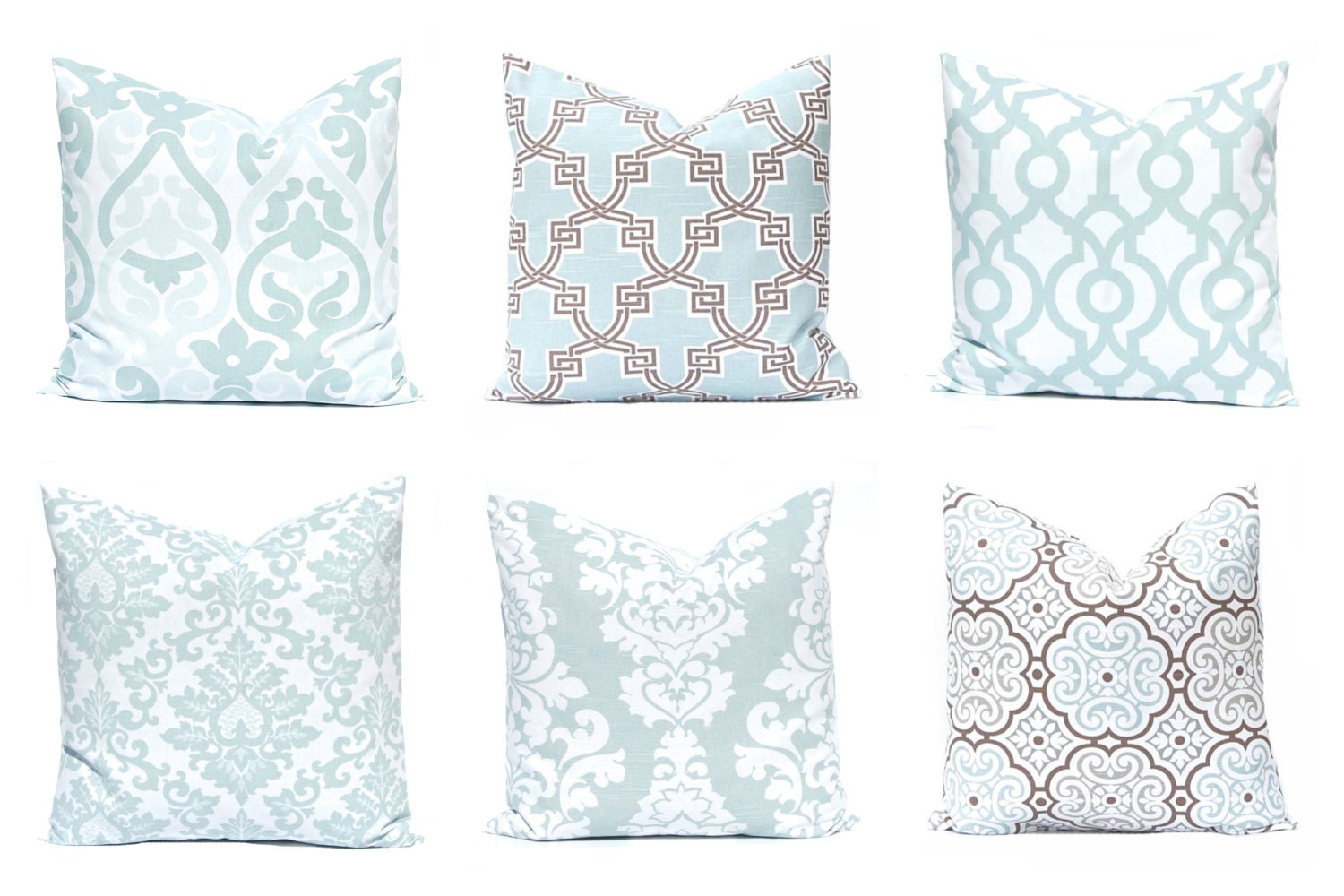 Decorative Pillows For Couch Etsy : Decorative Pillow Covers Aqua Throw Pillow Covers Sofa