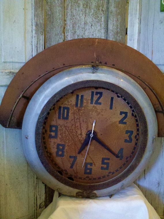 Train Station Clock Architectural Salvage Large Wall Art