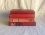 Vintage red book collection