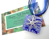 Fused Glass Necklace - Snowflake