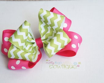 Large handmade Watermelon inspired boutique Bow perfect for Summer