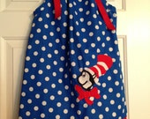 Cat in the Hat Dress size 18 months up to size 14