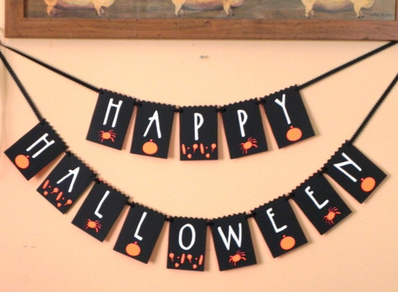 Happy Halloween Banner---Ready to Ship