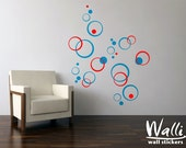 Modern bubbles wall decal
