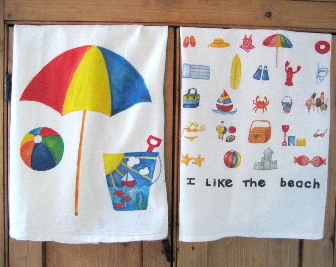 Beach Umbrella Kitchen Towel