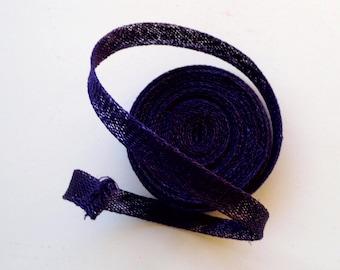 Sinamay Bias Binding 1cm Wide and 2 mtrs long - Purple
